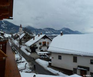 Vue depuis le balcon de notre auberge