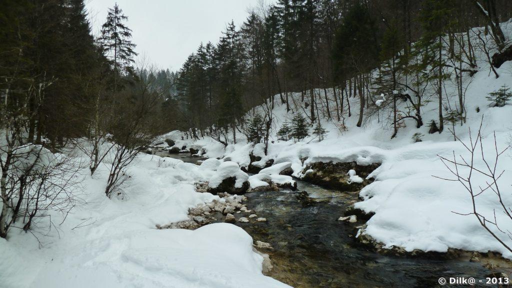Passage sur les rives du ruisseau Mostnica