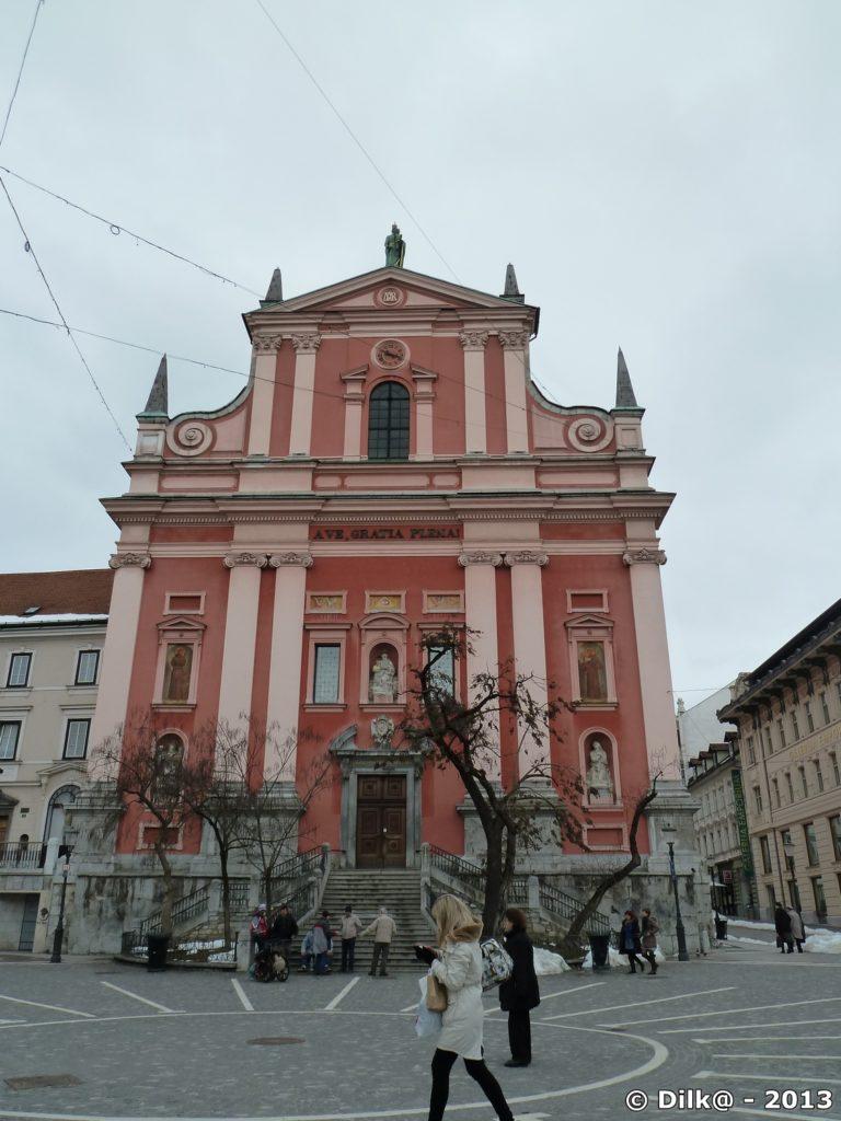 Eglise franciscaine sur la place Prešeren