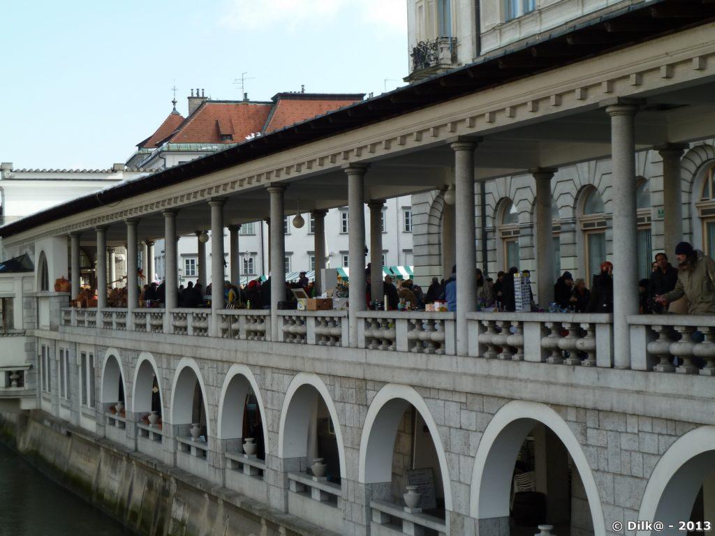Le marché couvert de Ljubljana
