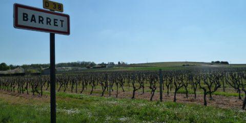 Le village Barret au milieu des vignes de Cognac en Charente