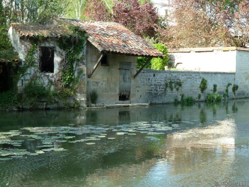 Les lavoirs le long de la Seugne à Jonzac