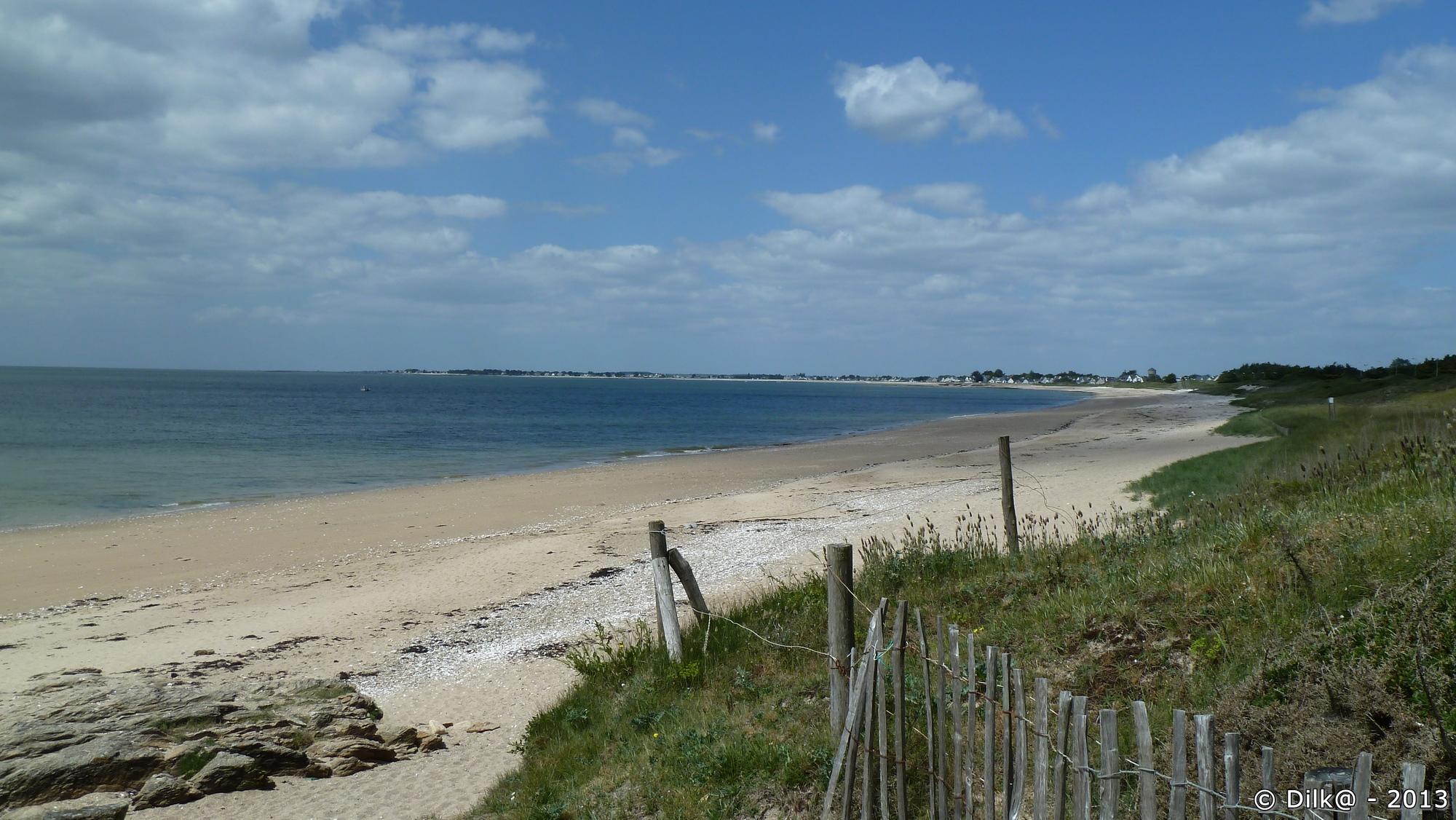 La plage de Kervoyal