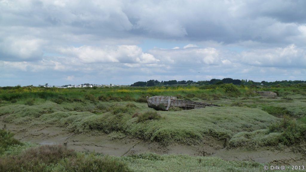 Épave de bateau à la pointe du Rostu