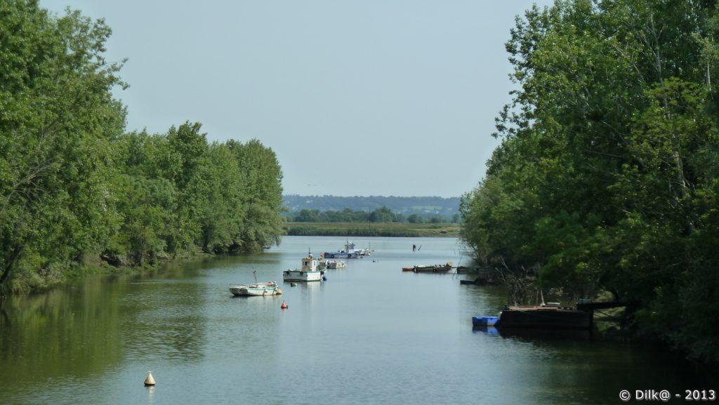 Quelques bateaux sur le canal de la Martinière