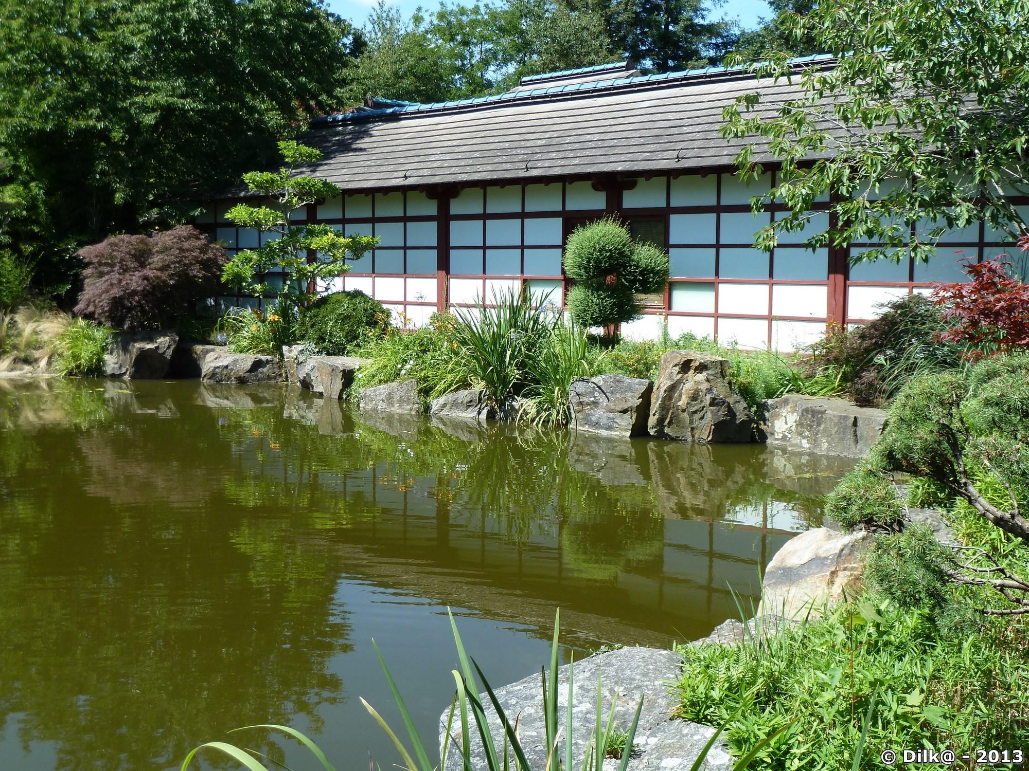 La jardin japonnais de l'île de Versailles