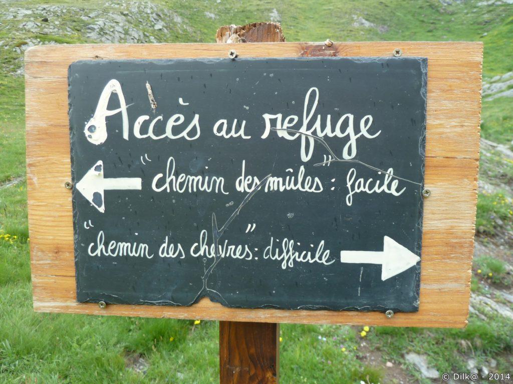 Pour monter au refuge, on a le choix