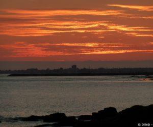 La baie de la Baule au coucher de soleil