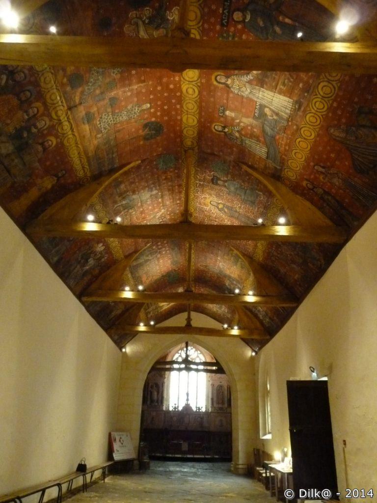 Son plafond est recouvert de peintures remarquablement bien conservées
