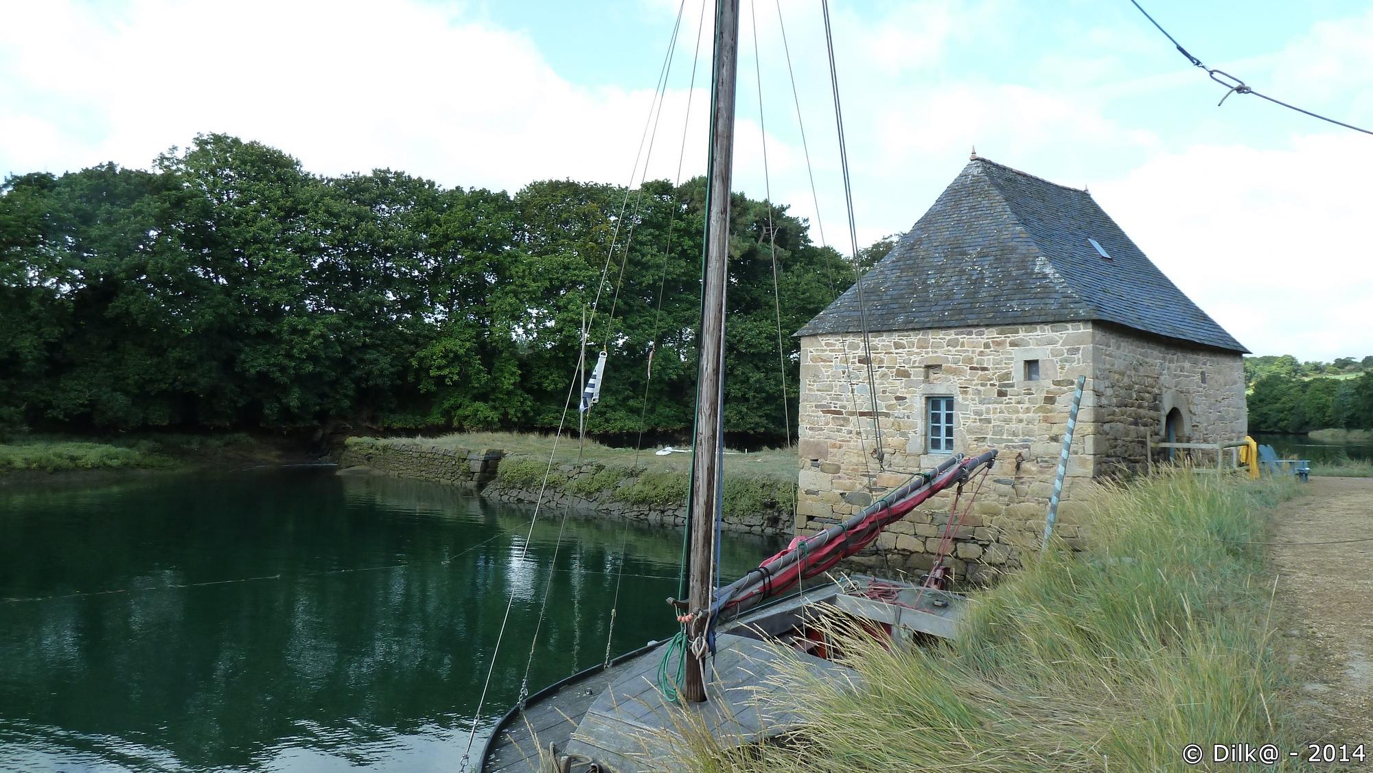 Le moulin à marée, côté estuaire du Trieux