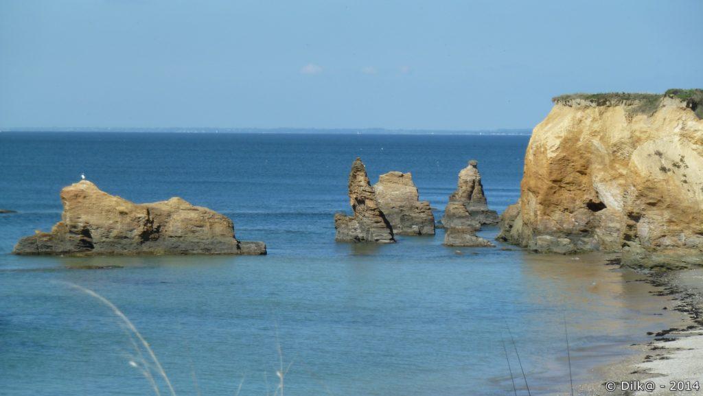L'érosion a créé des rochers qui se sont détachés de la côte