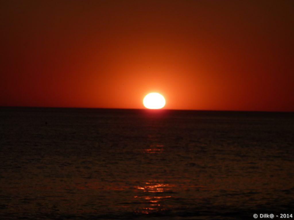 Coucher de soleil après une belle journée de septembre