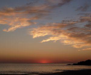 Lumières après le coucher de soleil