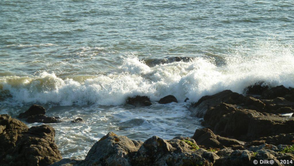 La mer est forte mais le beau temps incite à la baignade
