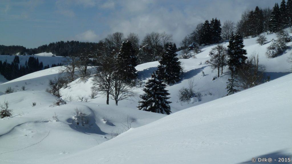 La neige est tombée en abondance dans le Jura