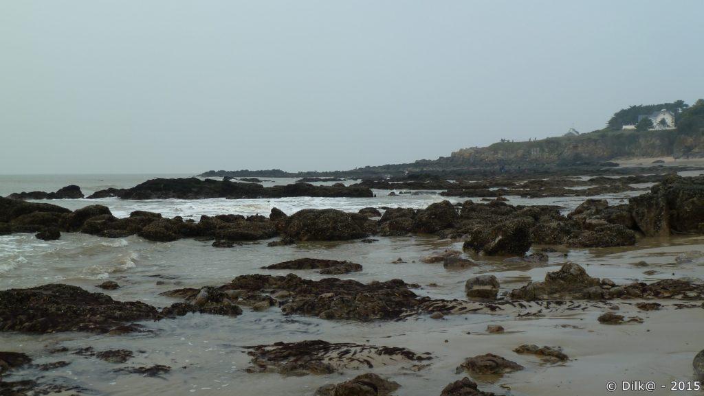 La plage découverte à marée basse