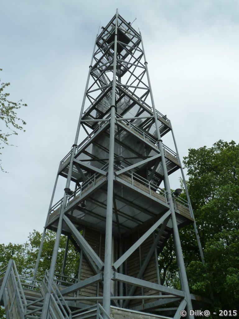 La tour de guet à l'entrée du parc
