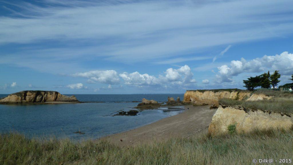 La côte près de la pointe du Bile