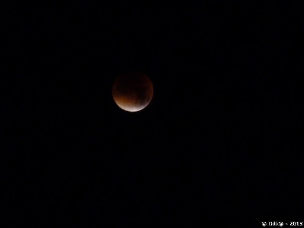 Eclipse totale de Lune (photo prise à 4h10)