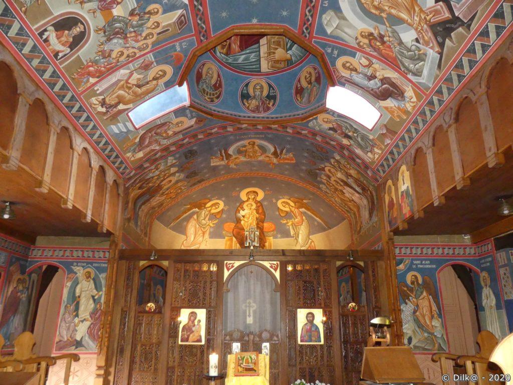 Les fresques de la chapelle byzantine