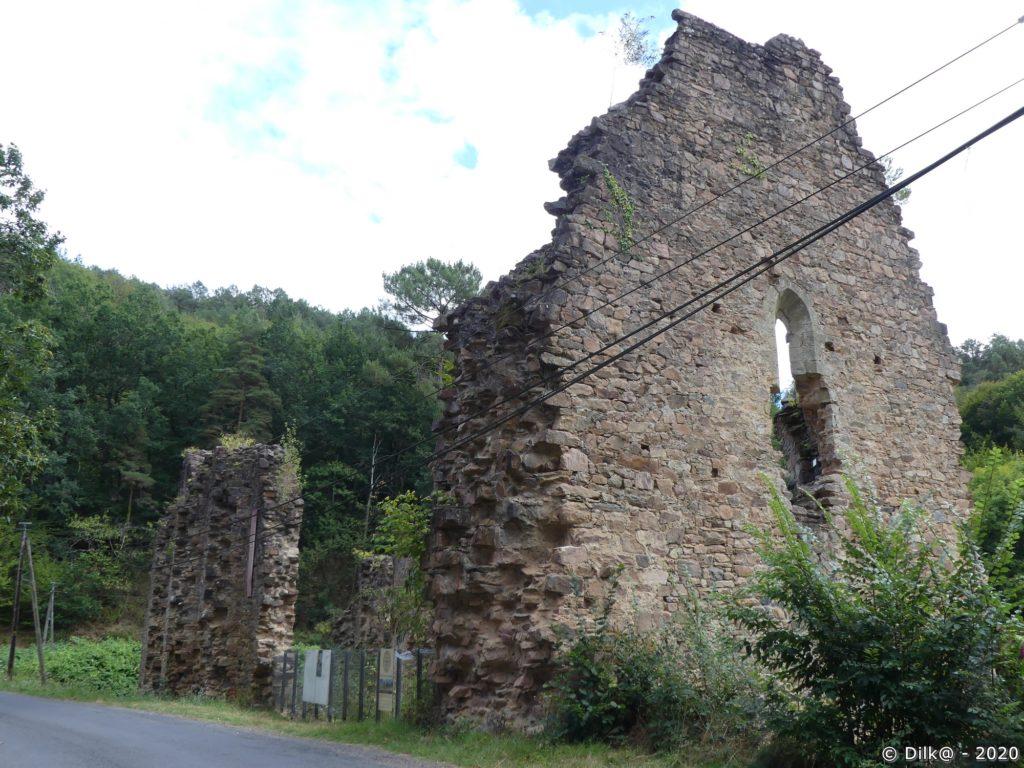 Les ruines du monastère féminin de Coyroux