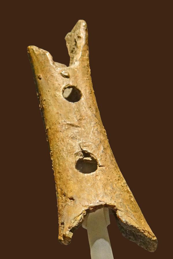 Flûte paléolithique (musée national de Slovénie, Ljubljana)