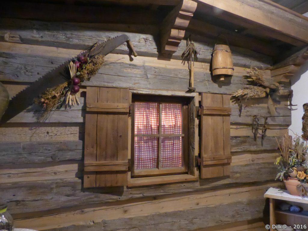 La décoration intérieure de l'auberge de Griesner Alm