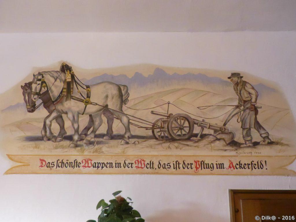 La décoration intérieure de l'auberge