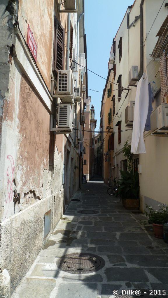Les ruelles étroites de Piran