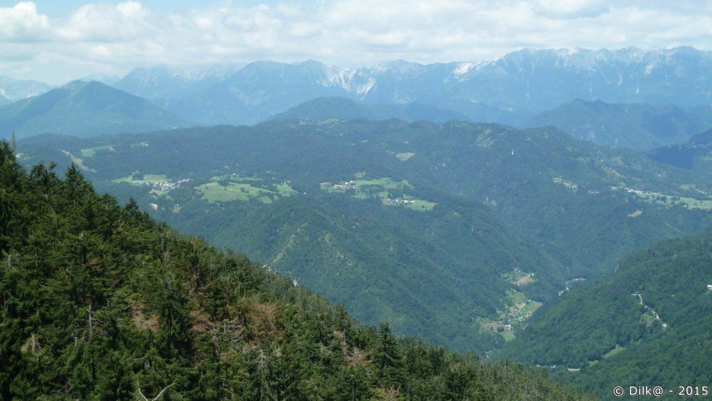 Vue du sommet du Vrhovec (1070 m)