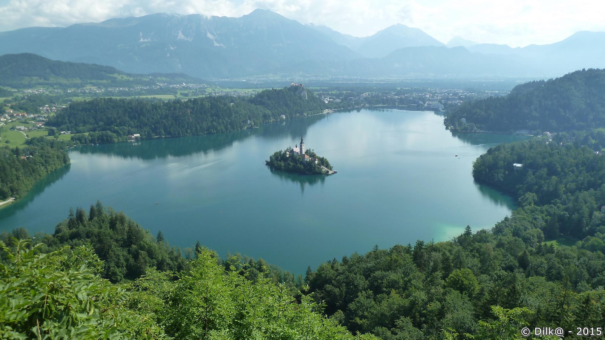 Le lac de Bled vue du promontoire d'Osojnice