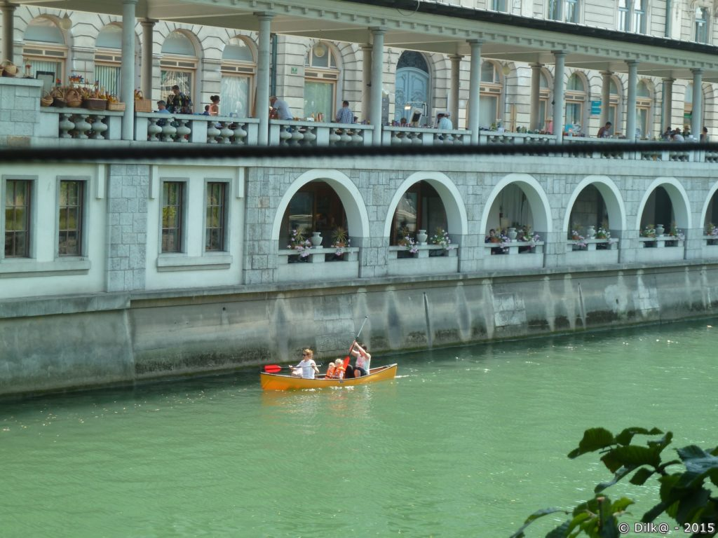 Canoé sur la Ljubljanica