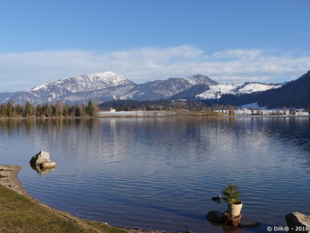 Le lac de Walchsee en fin de journée