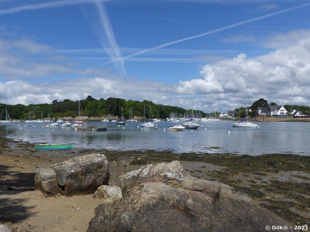 De Port-Anna, on voit la presqu'île de Conleau et Arradon