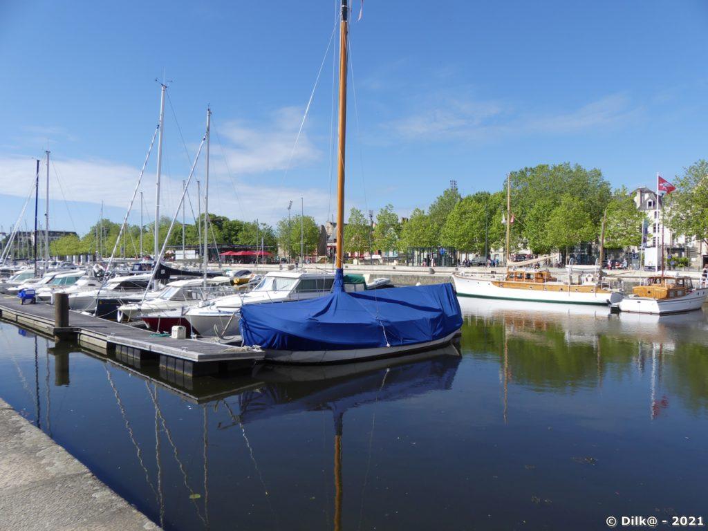 Le port de Vannes en plein cœur de la ville