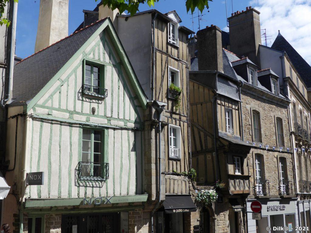 Les maisons à pans de bois dans le quartier historique
