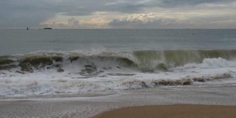 Fortes vagues après la tempête