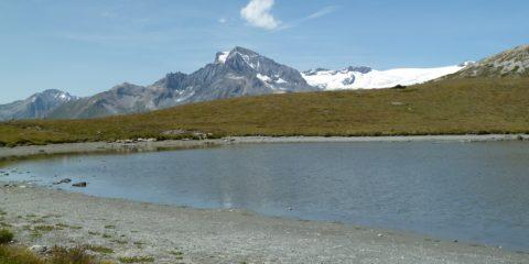 La Dent Parrachée (3697 m) et les glaciers de la Vanoise