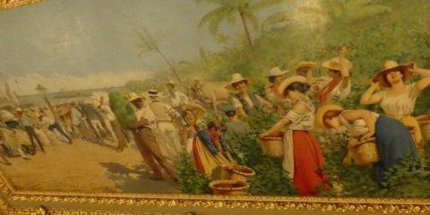 Allégorie du café et de la banane par un peintre italien