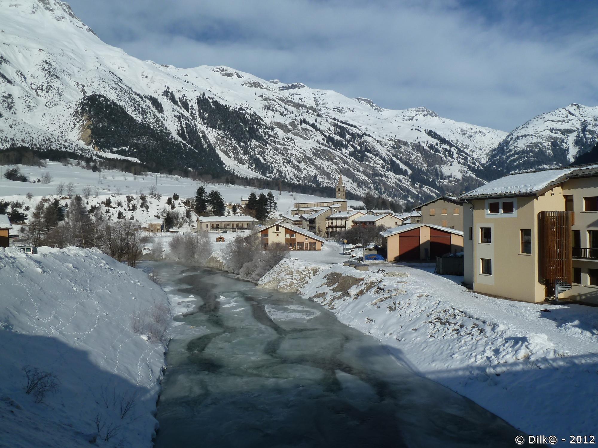 La rivière Arc à Termignon