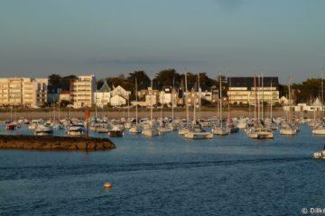 Le port d'échouage et la baie de Pornichet